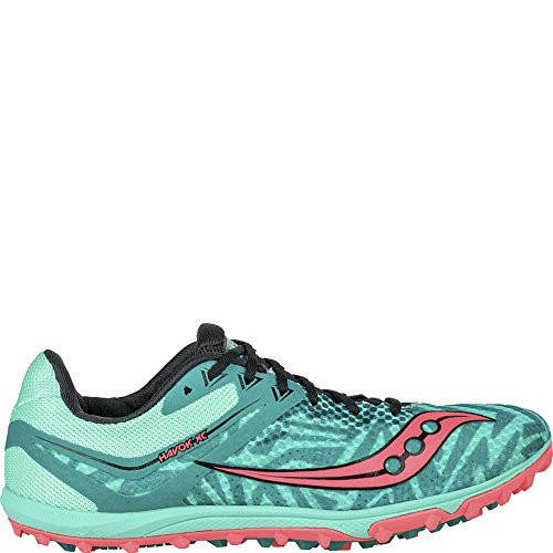 Coral Flat Shoes Athletic Saucony XC Havok Womens Running Teal Lightweight Vizipro tBqvRx