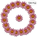 WINOMO-100Pcs-Daisy-Flower-Artificial-Silk-Flowers-Party-Wedding-DecorationPink