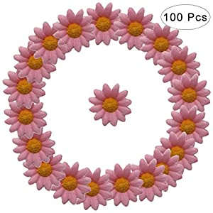 WINOMO 100Pcs Daisy Flower Artificial Silk Flowers Party Wedding Decoration(Pink) 8