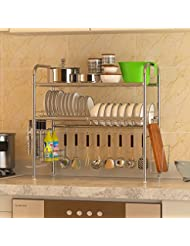 Storage In The Kitchen Sink Stainless Steel Dish Rack Dish Drain Rack F