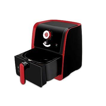 GWO Freidora De Aire 1400w Refrigerador De Aire Sin Aceite con Temporizador De Cesta De Seguridad Y Apagado Automático para Alimentos Fritos Saludables: ...
