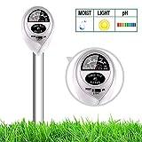 yoyomax Soil Test Kit pH Moisture Meter Plant Water Light Tester Testing Kits for Garden Plants (Silver)