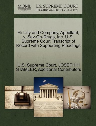 eli-lilly-and-company-appellant-v-sav-on-drugs-inc-us-supreme-court-transcript-of-record-with-suppor