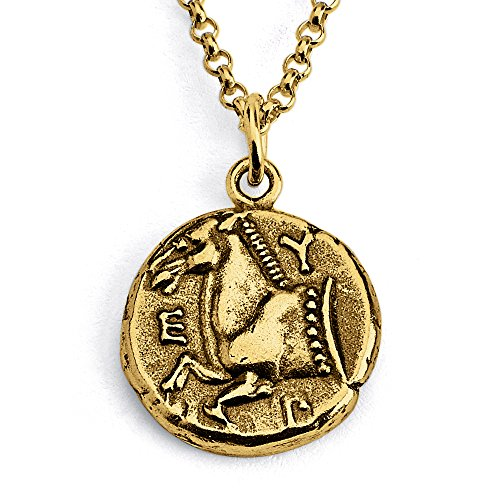 Azaggi Gold Plated Sterling Silver Handcrafted Thrace of Maroneia Coin Pendant Necklace (16)