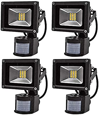4X 20W SMD Foco LED con Sensor Movimiento,Proyector LED Exterior ...
