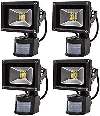 4X 20W SMD Foco LED con Sensor Movimiento,Proyector LED Exterior ...