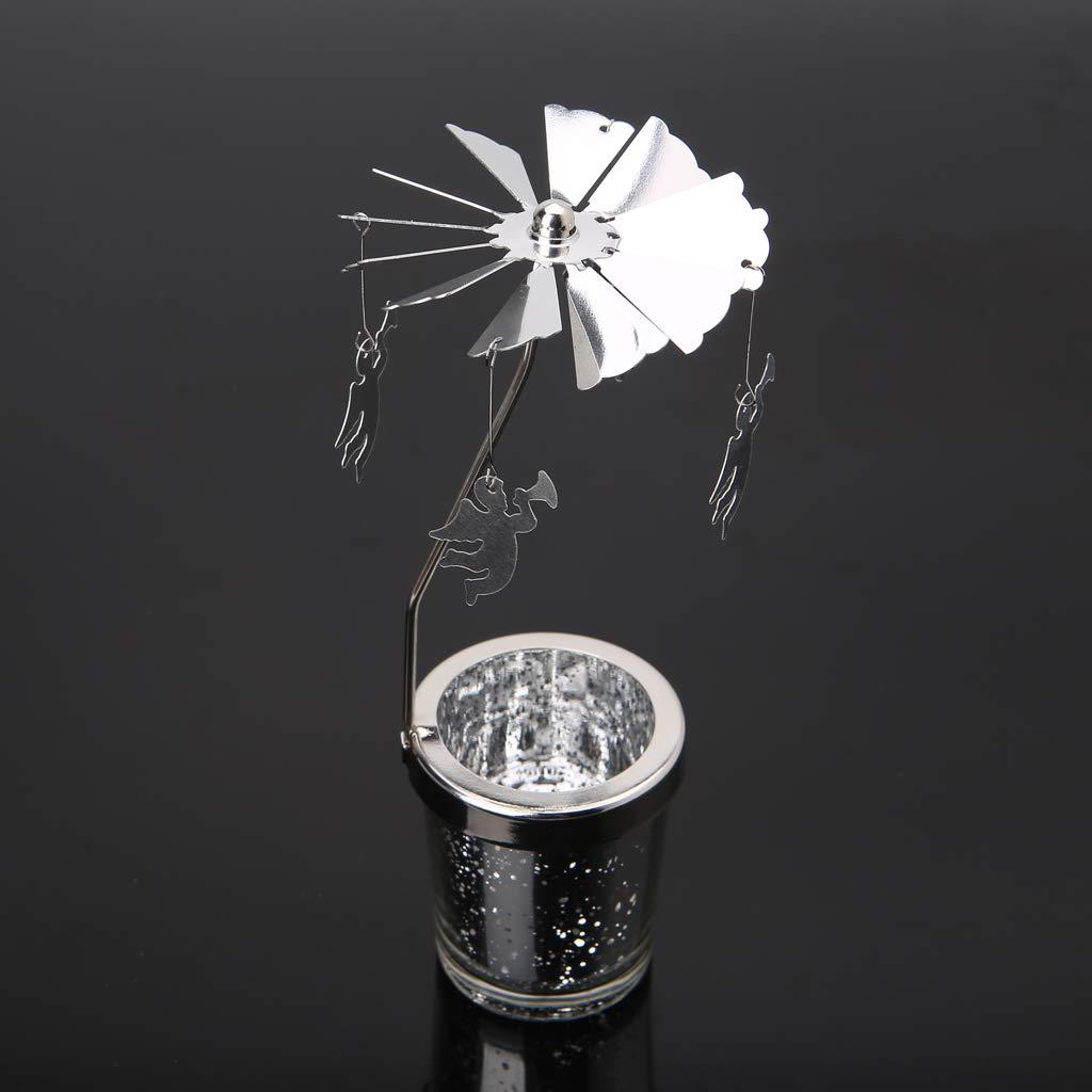 Amour Lergo/_FR Titulaire de lumi/ère de th/é en m/étal de Bougie Chauffe-Plat tournant rotatoire d/écoration de Maison de carrousel