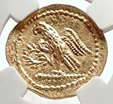 1000 IT Brutus Julius Caesar Roman Assassin 44BC Ancient coin MS NGC