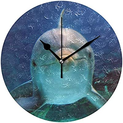 Eileen Max Reloj de Pared Delfín Decorativo Relojes Digitales ...
