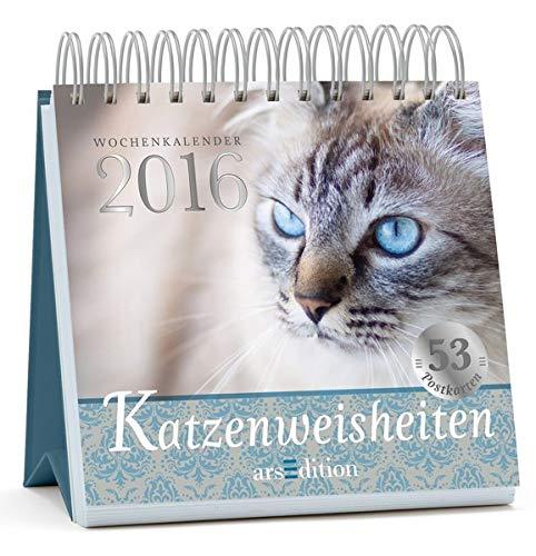 Katzenweisheiten 2016: Postkartenkalender