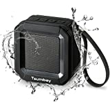 Portable Bluetooth Speaker Stereo Sound Enhanced Bass, Tsumbay Wireless IPX5 Water Resistant Shower Speaker Compatible iPhone Samsung, 20-Hour Playtime, 33ft Bluetooth Range, Built-in Mic