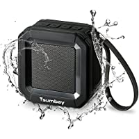 Mini Portable Bluetooth Speakers IPX6 Water Resistant Outdoor Shower Speakers by Tsumbay, 20 Hours Playtime, Wireless Stereo Sound, Powerful 5W Driver and Enhanced Bass, Built-in Mic