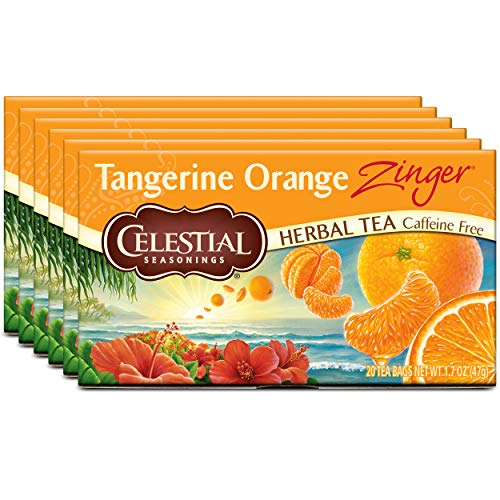 (Celestial Seasonings Herbal Tea, Tangerine Orange Zinger, 20 Count Box (Pack of 6))