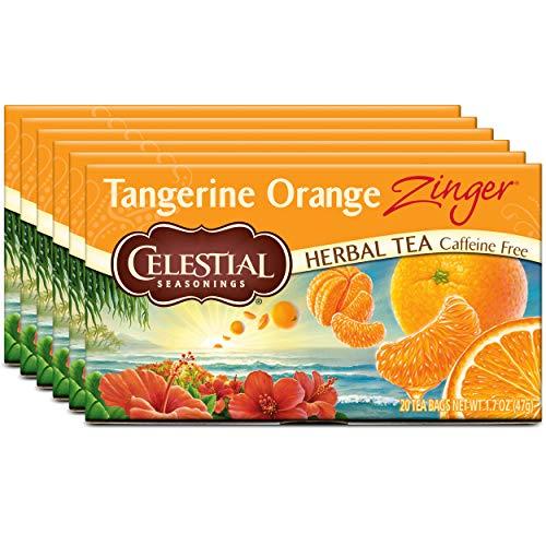 Celestial Seasonings Herbal Tea, Tangerine Orange Zinger, 20 Count Box (Pack of 6)