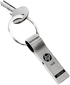 HP HPFD785W-16 Silver 16GB USB 3.0 Metal Key Ring Design Flash Drive