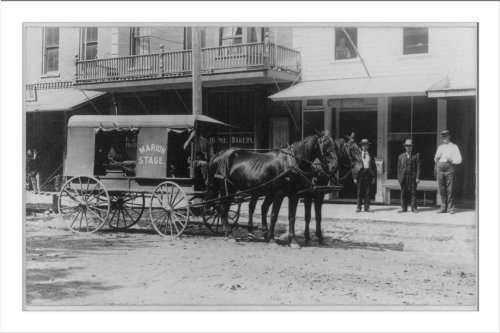 Historic Print (L): [Marion stage, a delivery wagon drawn by two horses in fr...