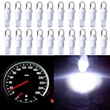 dash board 2001 dodge ram 1500 - CCIYU 10 Pack T5 Wedge 1 LED Car Auto Dashboard Gauge Side Light Bulb Lamp 37 58 70 73 74 White 12V