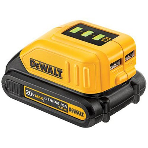 DEWALT DCB090 12V/20V Max USB Power Source (And Radio Dewalt Charger Battery)