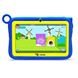 Yuntab Kids Tablet Q88R 7 Inch Allwinner A33,1.5Ghz Quad Core Android 4.4 Tablet PC,512MB+8GB,HD 1024x600,Dual Camera,WiFi,Bluetooth,3D Game,TF Card,Support Parental Control Software - iWawa(Blue)