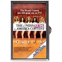 The Miss Nude America Contest 1976 Retro Sexy Fun! Guitar Pick or Pill Box USA Made