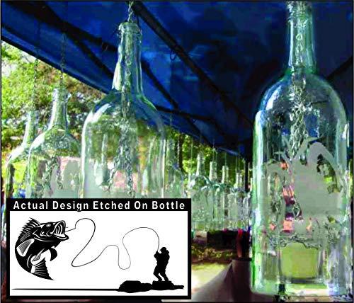 Bass Fishing Wine Bottle Candle ()