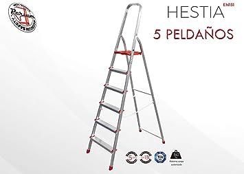Escalera de aluminio electrosoldado nerviado (NO EXTRUSIONADO) de alta calidad doméstica. Muy ligeras