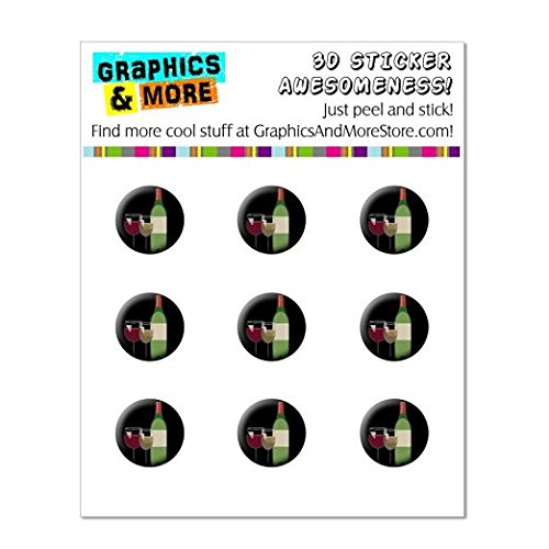 Graphics and More Wine Vino White Red - Zinfandel Merlot Cabernet Home Button Stickers Fits Apple iPhone 4/4S/5/5C/5S, iPad, iPod Touch - Non-Retail Packaging - Clear