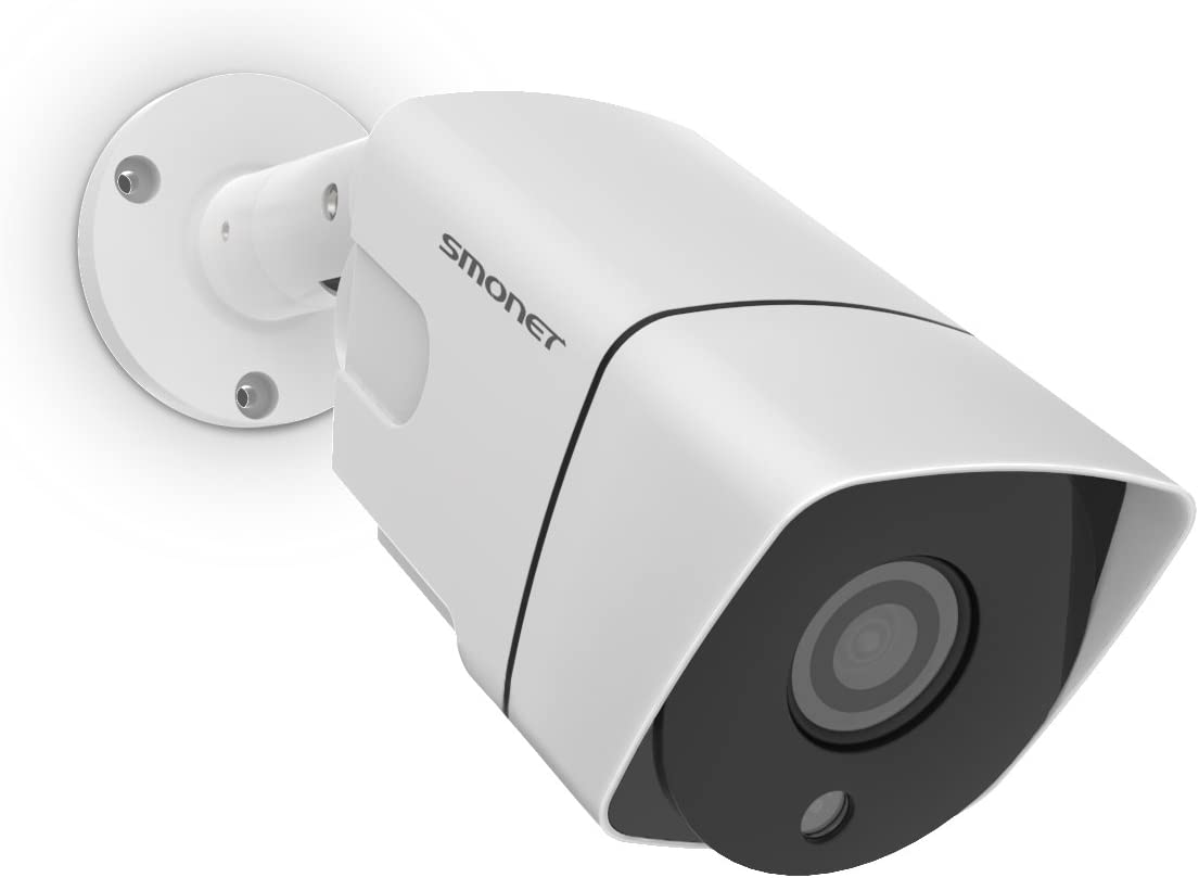 1080P Wired Security Camera,SMONET 1080P CCTV Camera, Waterproof Outdoor Indoor Bullet Camera with 3.6mm Lens High Resolution IR Cut 65Ft Night Vision,6pcs IR-LED Lights, No Power Supply