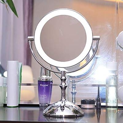 ZXY Afeitar Espejos para Espejo de Belleza LED con luz de Mesa ...