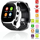 Smart Wrist Watch Screen Touch Smartwatch Bluetooth Wristwatch Heart Rate Monitor Blood Pressure for Men Women Boy Girls for Android Samsung S8 Plus S8 S7 Edge S6 iPhone 8 8 Plus 7 Plus 7 6 6S (Black)