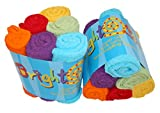 Bright Bots Terry Towelling Nappy Squares Unisex Combo (Newborn, Red, Pack of 6)