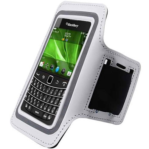 White Black ArmBand Workout Case Arm Band Cover Screen protector For Blackberry Bold 9900 9930 with Free Pouch