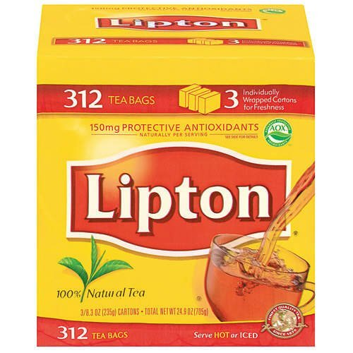 Lipton Tea Bags 312 Count Box