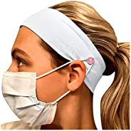HebeTop Button Headband Medical Holder for Nurses, Doctors, and Everyone Wearing a Protection