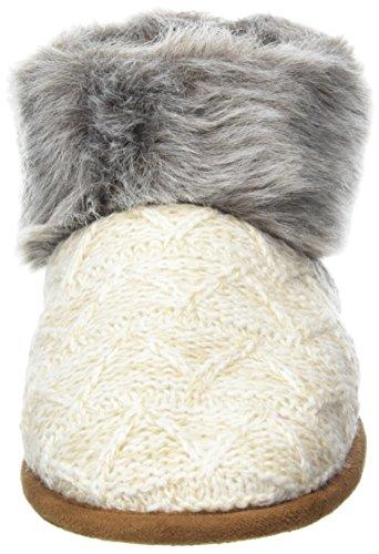 Femme Ecru Heather Textured Chaussons Oatmeal Cuff Dearfoams Knitted Pile Montants Bootie W 00294 Sn6Cqx81w