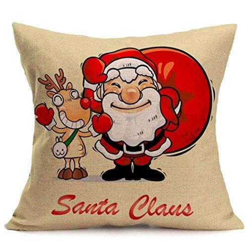 Pillow Cover Pillow Cases Vintage Christmas Pillow Festival Cushion Home Decorative Pillow Cushion for Sofa Throw Pillow Case Cover 18x18 (Ellen D Halloween Costume)