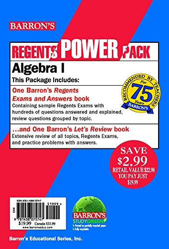 Algebra I Power Pack (Regents Power Packs)