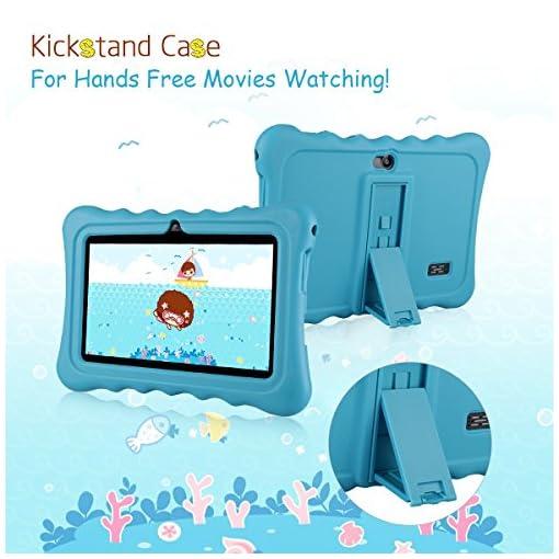 Tablet para niños con WiFi de 7 Pulgadas,Tablet Infantil de Android 7.1, Regalo para niños,Tablet portátil de Quad Core 1GB+8GB,Soporta Tarjeta TF 64GB,Doble cámara,Juegos educativos 5