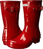 Hunter Women's Original Short Gloss Rain Boots, Military Red, 7 B(M) US