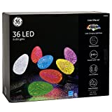 GE Color Effects 36-Count 29.17-ft Multi-Function Color Changing G28 LED Plug-in Indoor/Outdoor Christmas String Lights ENERGY STAR