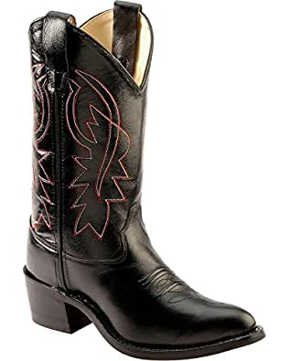 Amazon.com: Old West Youth Calfskin Cowboy Boot Pointed Toe: Shoes