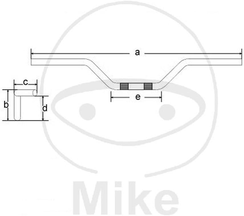 Tommaselli Tourenlenker Stahl 22mm Chrom 0234.31.60.04 8033900009585 Motorrad