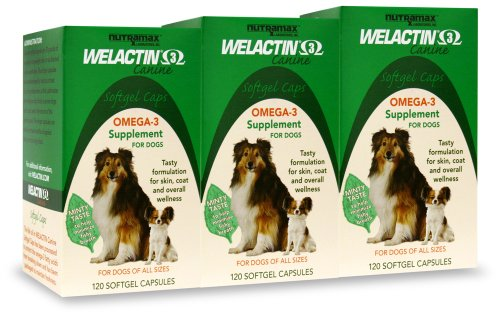 Welactin Canine Softgel Capsule, 120 Count, 3-Pack, My Pet Supplies