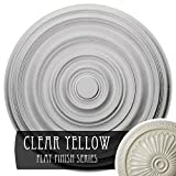 Ekena Millwork CM29CACYF 29 OD x 1 1/2'' P Carton Smooth Ceiling Medallion (fits Canopies up to 9 1/8''), Hand-Painted, Clear Yellow