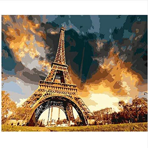 CZYYOU DIY Digital Malen Nach Nach Nach Zahlen Grand Tower Ölgemälde Wandbild Kits Färbung Wandkunst Bild Geschenk 40x50cm-Ohne Rahmen B07PH3ND6J | Elegante Form  5e7b32