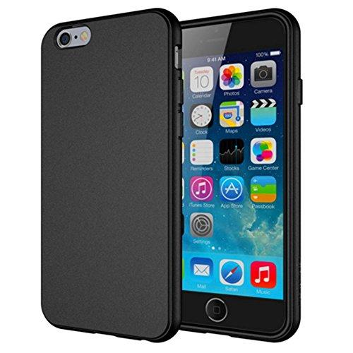 Coque Iphone 6S, bqc Soft Touch Mat intégral Coque fine en TPU Flexible pour Apple iPhone 6et iPhone 6S (11,9cm)–Noir