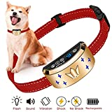 DoPuCo Humanely Designed Vibration & Shock Bark Collar for Dogs | Small, Medium & Large Bark Collar for Dogs Rainproof w/ 3 Modes [Beep, Vibrate, Shock] | Rechargeable Anti Barking Collar
