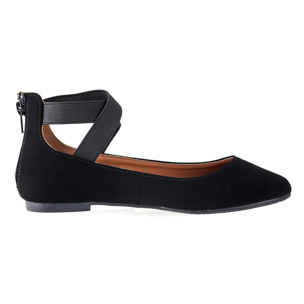 ANNA Shoes Womens Dana-21KB Comfort Flats - Black - 8.5 by ANNA (Image #2)