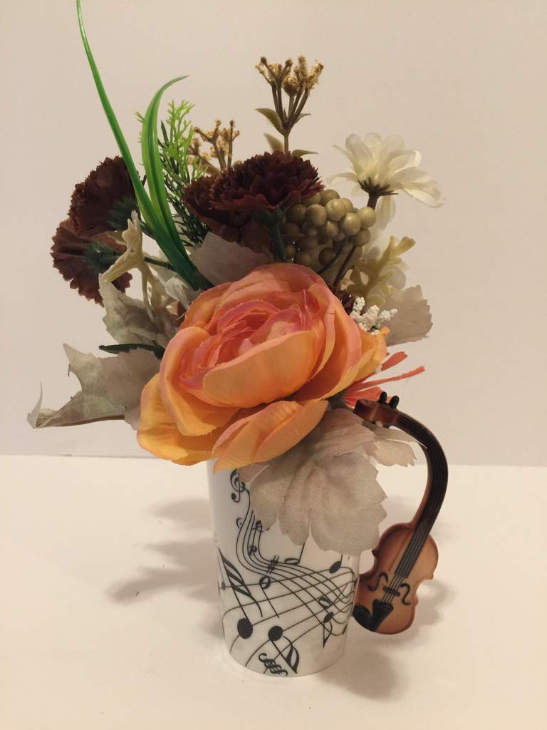 Amazon Music Fun Violin Vase Peach Brown Green Gray