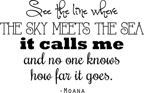 "Princess Moana Quote | Vinyl Wall Decal / Sticker - 20""x15"""
